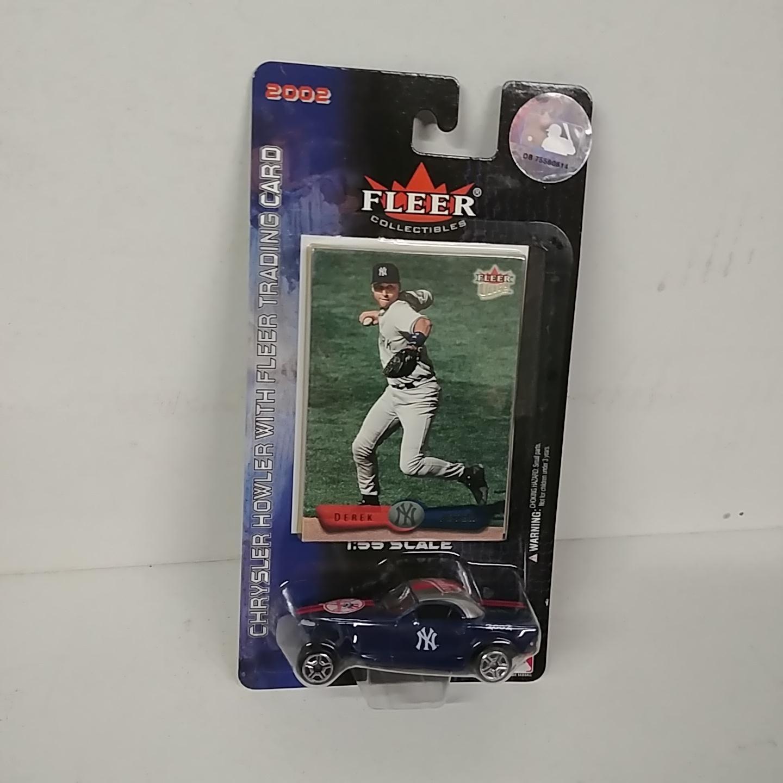 2002 NY Yankees 1/64th Chrysler Howler with Derek Jeter trading card