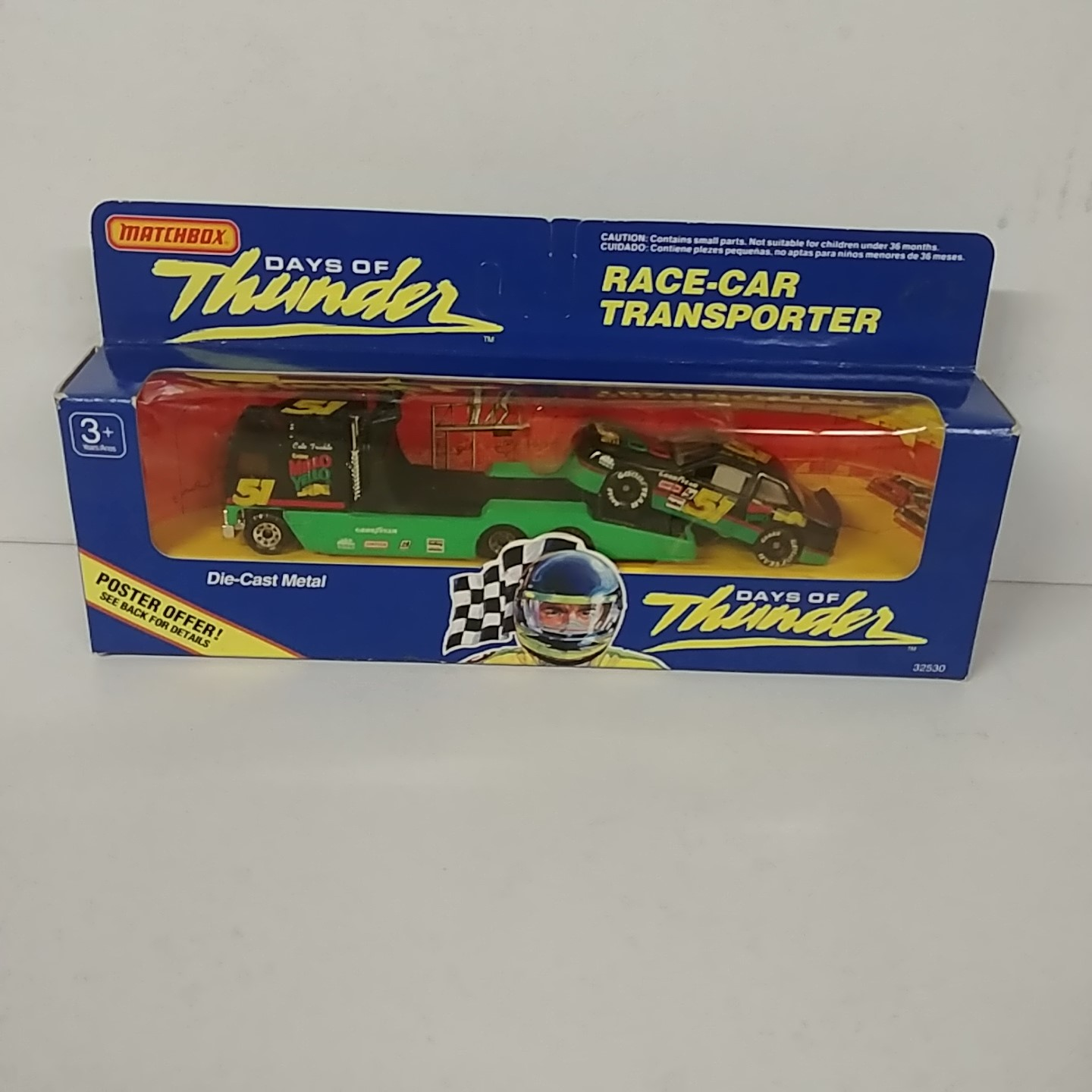 1990 Cole Trickle 1/87th Mellow Yellow Car Transporter with 1/64th Car