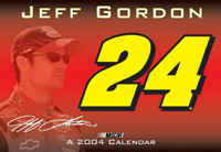"2004 Jeff Gordon 16"" x 11"" wall calendar"