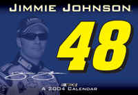 "2004 Jimmie Johnson 16"" x 11"" wall calendar"