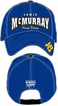 "2006 Jamie McMurray ""Roush Racing"" blue cap"