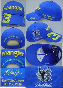 "2010 Dale Earnhardt Jr Wrangler ""Daytona Win"" cap"