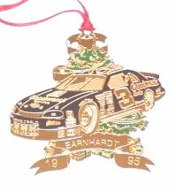 1995 Dale Earnhardt Goodwrench spinout Christmas ornament