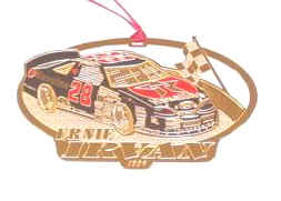 1996 Ernie Irvan Texaco spinout Christmas ornament