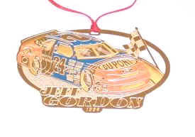 1996 Jeff Gordon DuPont spinout Christmas ornament