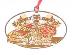 1996 Terry Labonte Kelloggs Champion spinout Christmas ornament