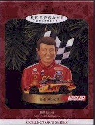 1999 Bill Elliott Christmas ornament by Hallmark