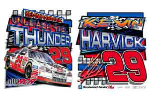 """2001 Kevin Harvick GM Goodwrench """"Unleash the Thunder"""" tee"""