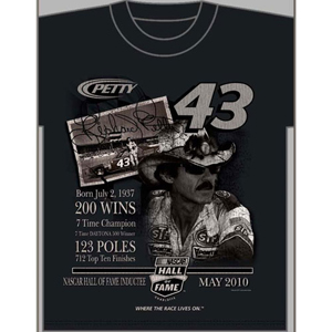 "2010 Richard Petty ""NASCAR Hall of Fame"" Tee"