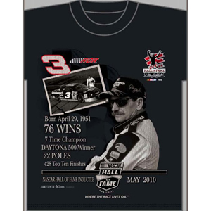 "2010 Dale Earnhardt ""NASCAR Hall of Fame"" Tee"