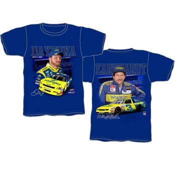 "2010 Dale Earnhardt Jr Wrangler ""Past and Present"" Royal tee"