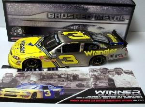 "2010 Dale Earnhardt Jr 1/24th Wrangler ""Daytona Win"" ""Brushed Metal"" Nationwide Series car"