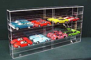 Custom Display Case for 1/18th cars with Mirrored Back