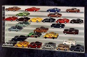 Custom Display Case for 1/24th cars with Miirrored Back