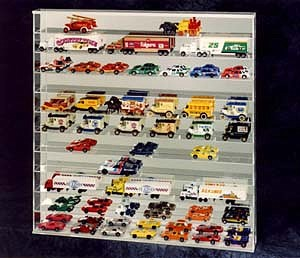 Custom Display Case for 1/64th cars with Mirrored Back
