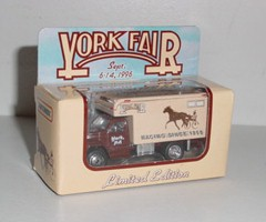 1996 York Fair 1/55th Horse Carrier Delivery Van