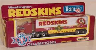 "1992 Washington Redskins 1/87th ""Super Bowl XXVI Champions"" hauler"