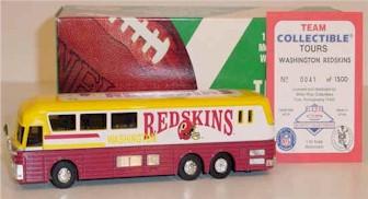 1996 Washington Redskins 1/64th talking bus