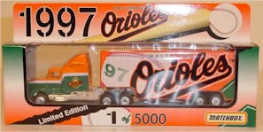1997 Baltimore Orioles 1/80 MLB transporter