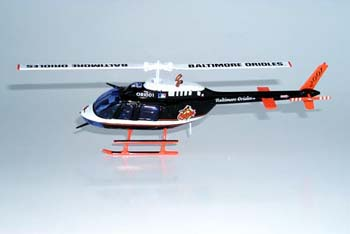 2001 Baltimore Orioles 1/43 helicopter