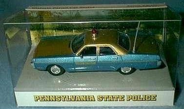 1972 Pennsylvania State Police 1/43 Plymouth Fury