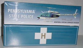 2001 Pennsylvania State Police Bell Jet Ranger III 1/43 helicopter