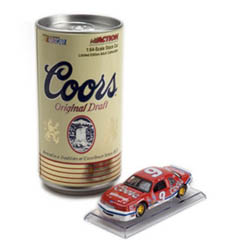 """1988 Bill Elliott 1/64 Coors """"Championship Car"""" in can on clear base"""