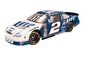 1998 Rusty Wallace 1/24th Miller Lite b/w bank