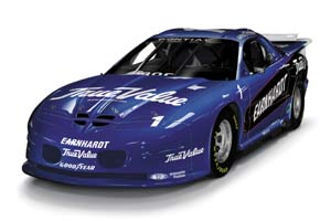 "1999 Dale Earnhardt 1/24th IROC ""Blue"" c/w car"