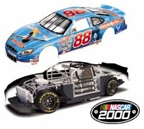 "2000 Dale Jarrett 1/64th  Ford Quality Care ""Air Force"" Total View RCCA hood open car"
