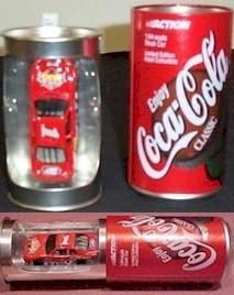 2000 Coca-Cola 1/64th car in Coke can tin