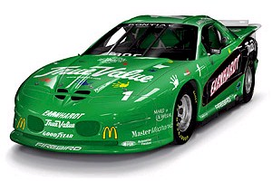 2001 Dale Earnhardt 1/24th Green IROC c/w car