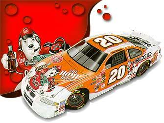 2001 Tony Stewart 1/24 Coke c/w car