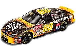 "2001 Dale Jarrett 1/24th UPS Flames ""Race The Truck"" b/w bank"