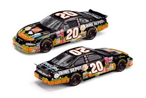 "2002 Tony Stewart 1/24th Home Depot ""In Search of the Great Pumpkin"" c/w car"