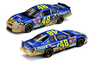 "2002 Jimmie Johnson 1/24th Lowe's ""Sylvester & Tweety"" c/w car"