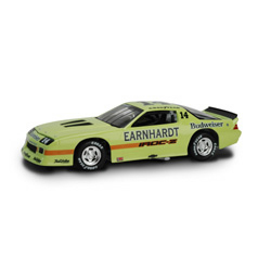 1988 Dale Earnhardt 1/24th IROC #14 Lime Green Camaro c/w car