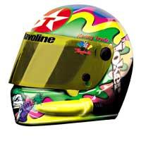 """1998 Kenny Irwin 1/4 Texaco """"Joker""""  mini helmet"""