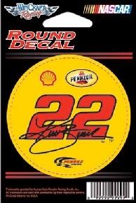 """2011 Kurt Busch Pennzoil 3"""" round decal by Wincraft"""
