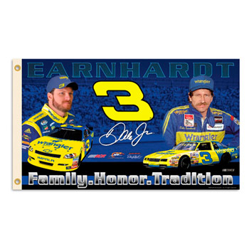 2010 Dale Earnhardt Jr/Sr Wrangler 3X5 fan flag by BSI