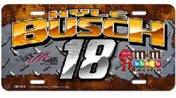 2010 Kyle Busch M&M's Metal License Plate by Racing Reflections