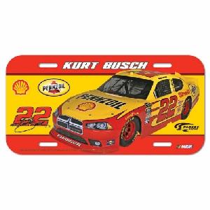 2011 Kurt Busch Pennzoil/Shell plastic license plate by Wincraft