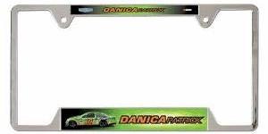 2013 Danica Patrick GoDaddy.com metal license plate frame