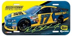 2013 Ricky Stenhouse Jr Best Buy plastic license plate