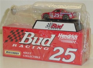 1997 Ricky Craven 1/64 Budweiser car in bottle