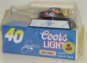 1997 Robby Gordon 1/64 Coors Light car in bottle