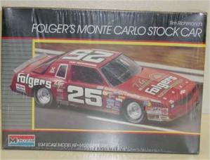 1986 Tim Richmond 1/24 Folgers model kit