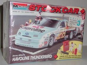 1990 Davey Allison 1/24th Havoline Thunderbird model kit by Monogram