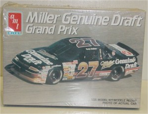 1990 Rusty Wallace 1/24th Miller Genuine Draft Pontiac model kit by AMT