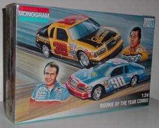 1985/1986 Ken Schraeder/Alan Kulwicki 1/24th Rookie of the Year Combo model kit by Monogram